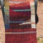 Patchwork Tapestry Chenille Shawl - red $895