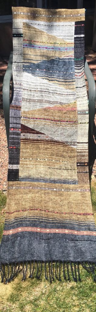 Patchwork Tapestry Chenille Shawl - gold $895